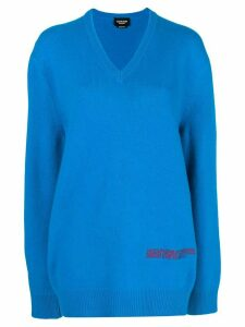 Calvin Klein 205W39nyc oversized logo sweater - Blue