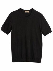 Burberry silk cashmere T-shirt - Black