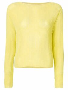 Onefifteen semi sheer ribbed top - Yellow
