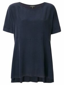 Antonelli knitted short sleeve flared top - Blue