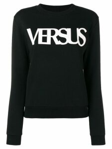 Versus long-sleeve logo-print sweatshirt - Black