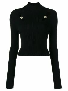 Versus cutout raglan sleeve turtleneck - Black