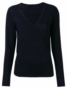 Sottomettimi V-neck wrap sweater - Blue