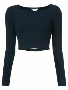 Fleur Du Mal cropped fitted jumper - Black