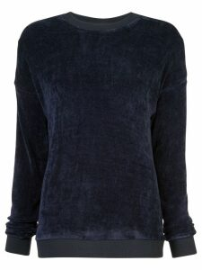 Tibi loose-fit crew neck jumper - Blue