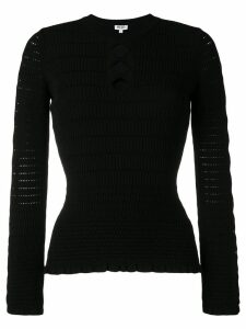 Kenzo geometric knit top - Black