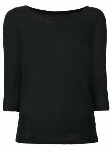 Sottomettimi three-quarter sleeve top - Black