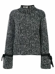 Moncler tie fastening knitted jumper - Grey