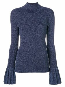 Carven roll neck sweatshirt - Blue