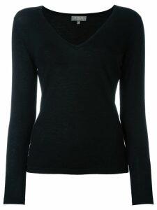 N.Peal cashmere superfine v-neck sweater - Black