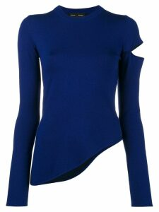 Proenza Schouler knit sweater with slit shoulder - PURPLE