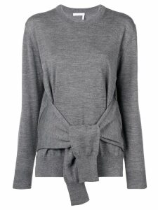 Chloé fine knit tie-waist top - Grey