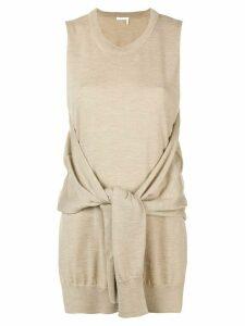 Chloé knot-detail sleeveless knitted top - Neutrals
