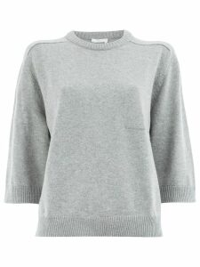 Chloé short-sleeve shift sweater - Grey