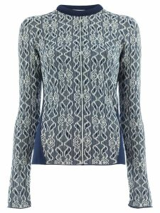 Chloé embroidered fitted sweater - Blue