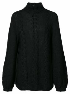 Voz turtleneck knitted top - Black