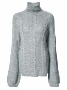 Voz turtleneck knitted top - Grey