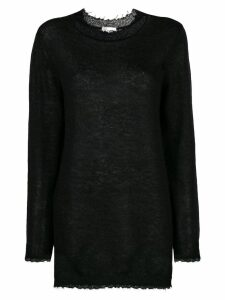 Red Valentino oversized long-sleeve sweater - Black