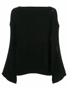 Nili Lotan cut-detail draped sweater - Black