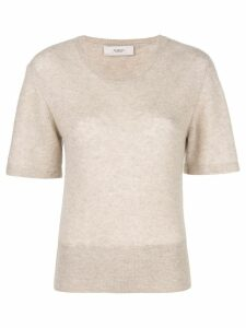 Pringle of Scotland short-sleeve fitted sweater - NEUTRALS