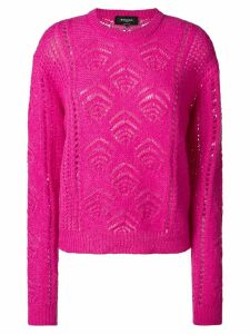 Rochas embroidered fitted sweater - PINK