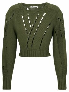 T By Alexander Wang cut-detail sweater - Green