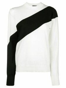 Calvin Klein 205W39nyc paneled sweater - Neutrals