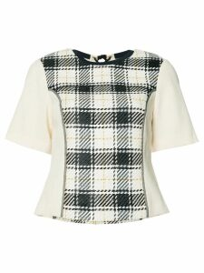 3.1 Phillip Lim plaid knitted top - Black