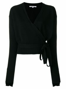 Helmut Lang cashmere wrapped blouse - Black