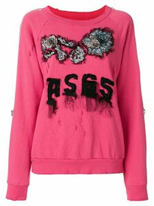 As65 embroidered logo sweater - PINK