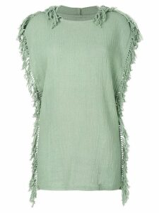 Caravana Kii hooded knitted dress - Green