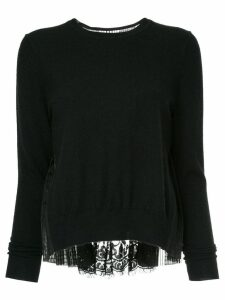 Onefifteen lace panelled top - Black