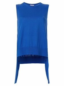 MRZ draped sleeveless top - Blue