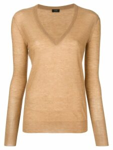 Joseph long-sleeve fitted sweater - Brown