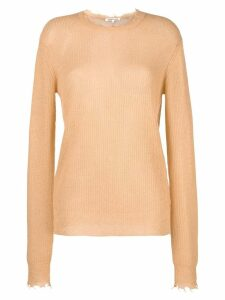 Helmut Lang long-sleeve fitted sweater - Neutrals