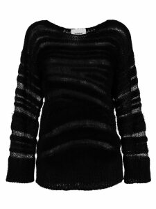 Dondup distressed long-sleeve sweater - Black