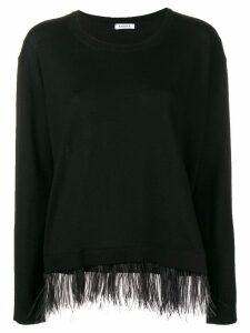 P.A.R.O.S.H. contrast trim knitted top - Black