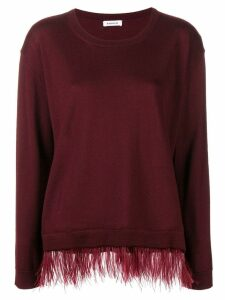 P.A.R.O.S.H. contrast trim knitted top - Red