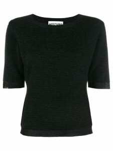 Moschino short-sleeve fitted sweater - Black