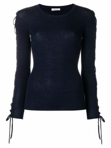 P.A.R.O.S.H. laced sleeves knitted top - Blue