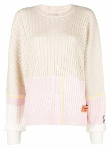 Heron Preston colour-block long sleeve sweater - Neutrals