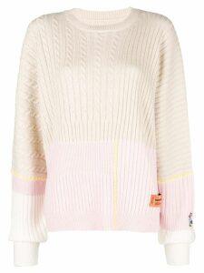 Heron Preston colour-block long sleeve sweater - NEUTRALS