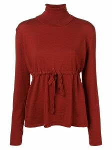 Société Anonyme high neck knitted top - Red