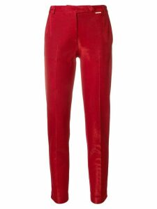 Styland cropped fitted trousers - Red