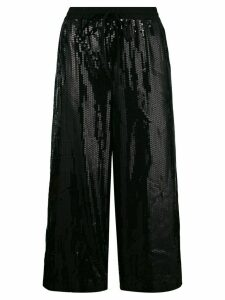 P.A.R.O.S.H. cropped drawstring trousers - Black