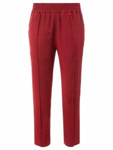 Haider Ackermann elastic waist cropped pants - Red