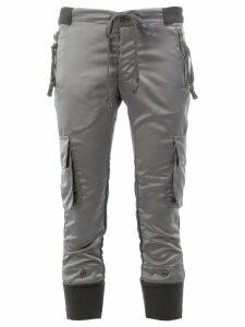 Greg Lauren cargo cropped trousers - Grey