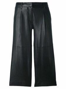 Michael Michael Kors leather cropped pants - Black