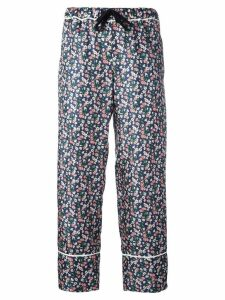 Moncler floral print cropped trousers - Multicolour