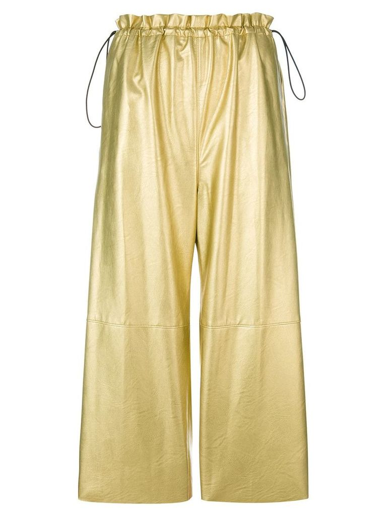 Mm6 Maison Margiela metallic cropped trousers - Nude & Neutrals